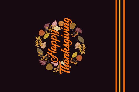 Tea Towel Thanksgiving Wreath fabric by mariafaithgarcia on Spoonflower - custom fabric
