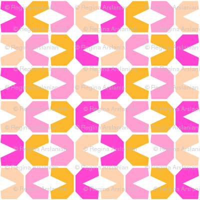 Abstract Geometric, small pinks