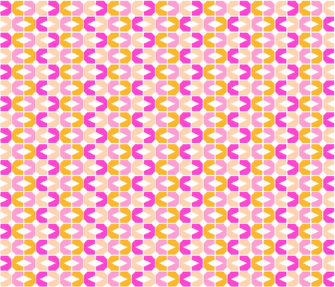 Abstract Geometric, small pinks fabric by palifino on Spoonflower - custom fabric
