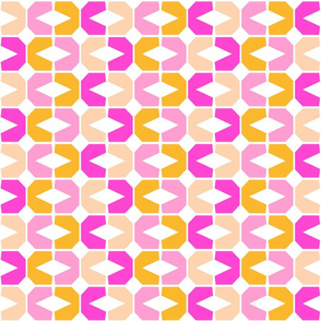 Abstract Geometric, large pinks