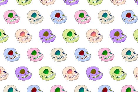 Dog Skulls fabric by lurelight on Spoonflower - custom fabric