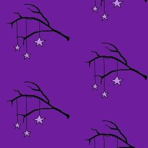 Halloween night purple