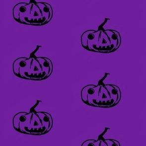 Jack o lantern pumpkin purple
