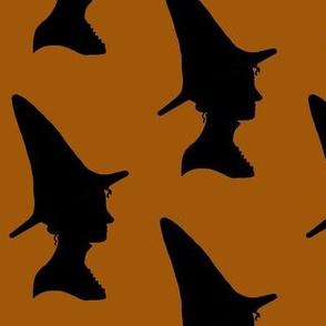 Witch print orange