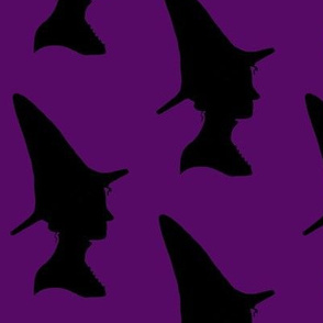 witch print purple