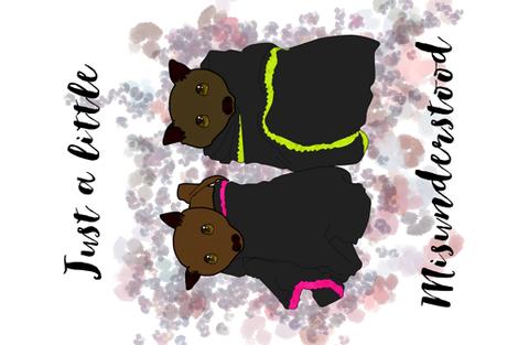 Misunderstood Bats fabric by maidencrone on Spoonflower - custom fabric