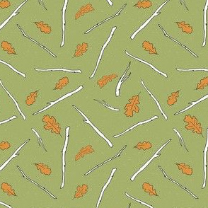 Twigs and Leaves - Green