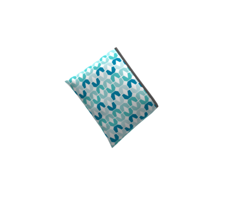 Abstract Geometric, small aquas