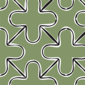 Contour plus grid green Large scale
