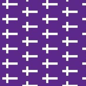 White Crosses on Deep Purple