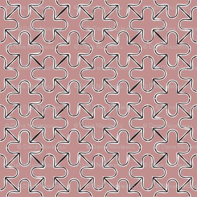 Contour plus grid pale pink