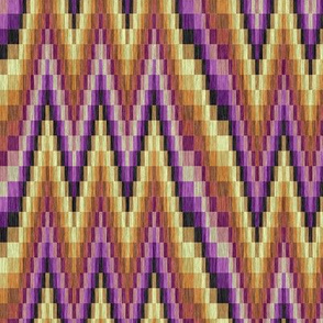 Lavender and Golds Flamestitch Bargello