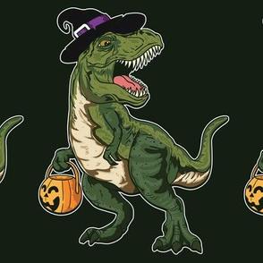 Dinosaur Witch Halloween
