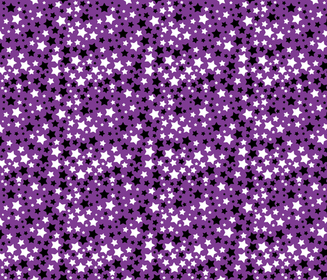 Oh My Stars Purple fabric by bags29 on Spoonflower - custom fabric