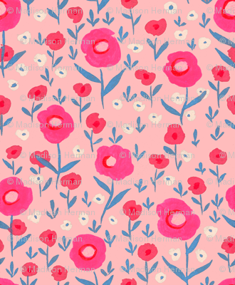 Poppies in Pink