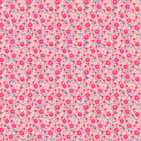 Poppies in Pink fabric by merrylittlestudio on Spoonflower - custom fabric