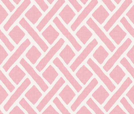 Savannah Trellis // Pink fabric by willowlanetextiles on Spoonflower - custom fabric