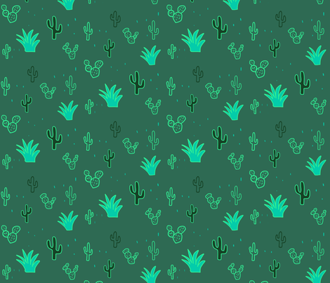 Neon cacti take two fabric by hejamieson on Spoonflower - custom fabric