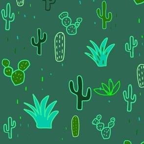 Neon cacti multicolor