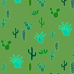 Neon cacti light green