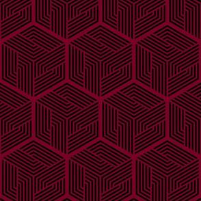 Thor Cape Pattern 2 (Dark Rose)