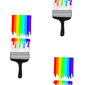 Rainbow Paintbrushes
