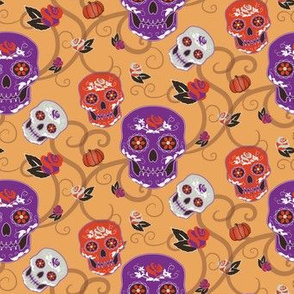 Day of the Dead colorful print