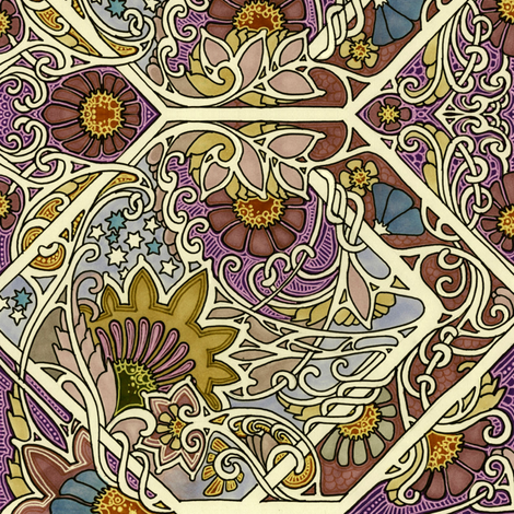 In Celebration of Autumn fabric by edsel2084 on Spoonflower - custom fabric