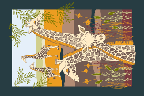 Morning Safari fabric by ldpapers on Spoonflower - custom fabric