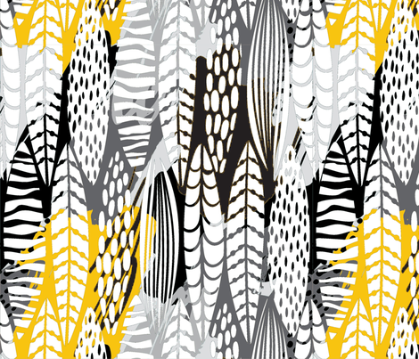 White Feathers fabric by floramoon on Spoonflower - custom fabric