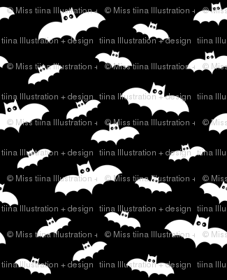 bats on black 60% smaller » halloween