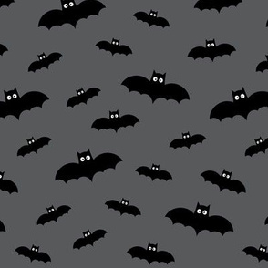 bats on dark grey 60% smaller » halloween
