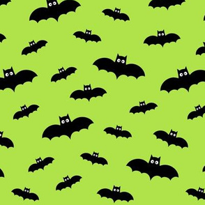 bats on lime green 60% smaller » halloween