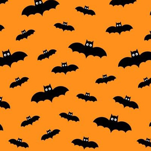 bats on orange 60% smaller » halloween