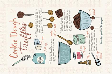 Cookie Dough Truffles Recipe fabric by harmonycornwell on Spoonflower - custom fabric