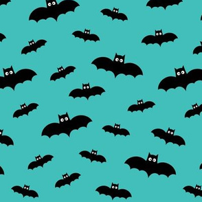 bats on teal 60% smaller » halloween