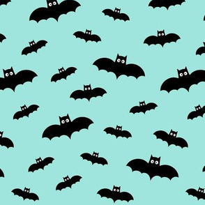 bats on light teal 60% smaller » halloween