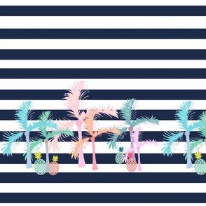 palm beach conga LG14 - navy stripe