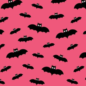 bats on hot pink 60% smaller » halloween