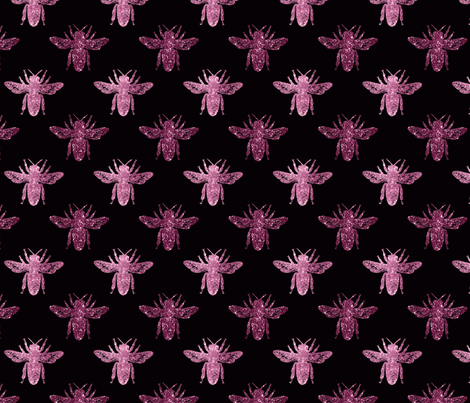 Little Purple Bees fabric by floramoon on Spoonflower - custom fabric