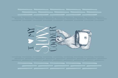 I love my slow cooker - Tea Towel Design fabric by nicoletlaursen on Spoonflower - custom fabric