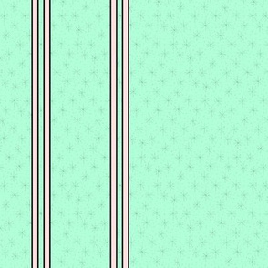 Pink stripes on mint