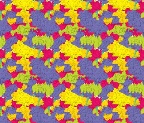 Pollock Roses  fabric by jayhutch on Spoonflower - custom fabric