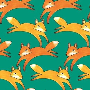 Leaping Foxes (small scale)