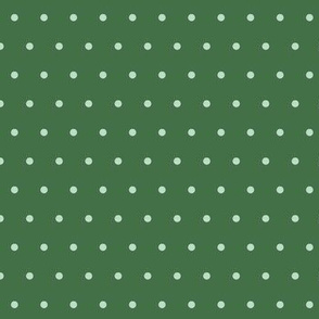 Christmas Spots Deep Green Pale Green
