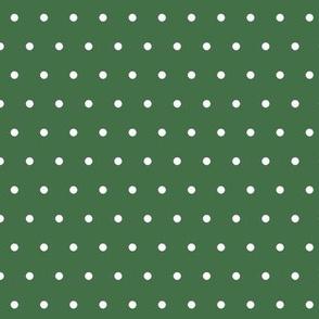 Spots Small Deep Green White
