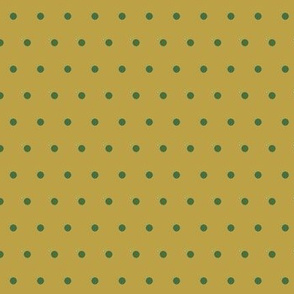 Spots Small Gold Green