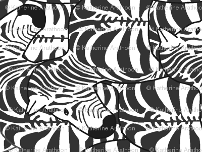 Zillions of zebras (sideways)