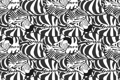 Zillions of zebras (sideways) fabric by kjthoon on Spoonflower - custom fabric