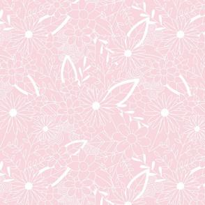 Pink Floral Zendoodles
